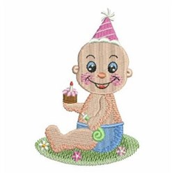 Baby Birthday embroidery design