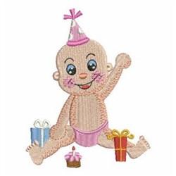 Baby Birthday Girl embroidery design