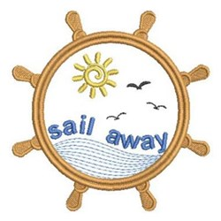 Sail Away Wheel embroidery design