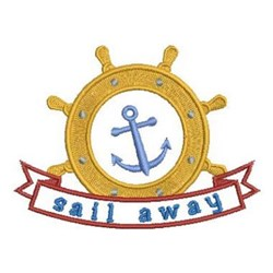 Sail Away Anchor embroidery design