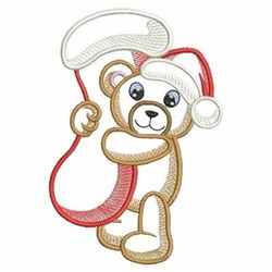 Christmas Bear With Stocking embroidery design