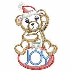 Christmas Bear Joy Ornament embroidery design