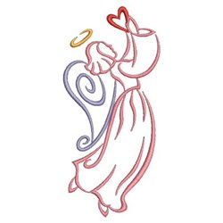 Satin Valentine Angel embroidery design