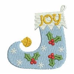 Christmas Joy Stocking embroidery design