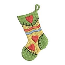 Mini Christmas Stocking embroidery design