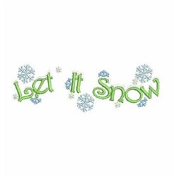 Let It Snow Border embroidery design