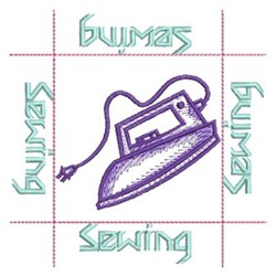 Sewing Iron embroidery design