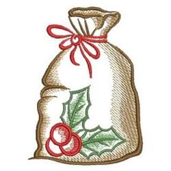 Sketched Christmas Bag embroidery design