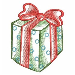 Sketched Christmas Gift embroidery design
