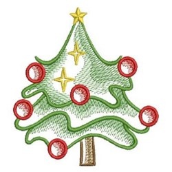 Sketched Christmas Tree embroidery design