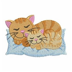 Mom With Kitten embroidery design