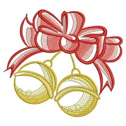 Sketched Christmas Bells embroidery design