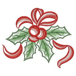 Sketched Christmas Holly embroidery design
