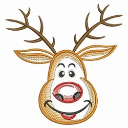 Sketched Rudolph embroidery design