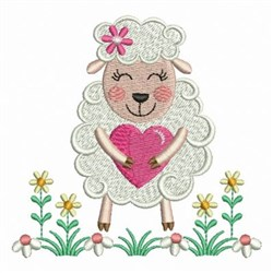 Spring Sheep embroidery design