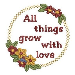 Grow With Love Wreath embroidery design