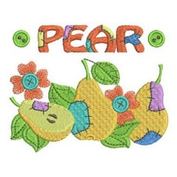 Patchwork Fruits embroidery design