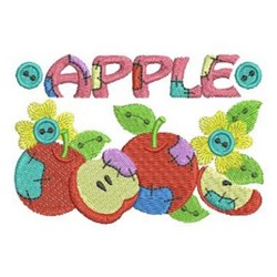 Patchwork Apples embroidery design