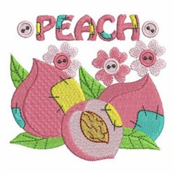 Patchwork Peaches embroidery design
