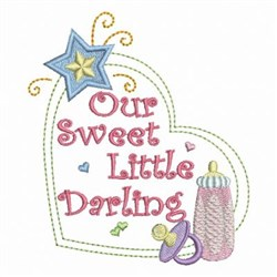 Baby Shower Heart embroidery design