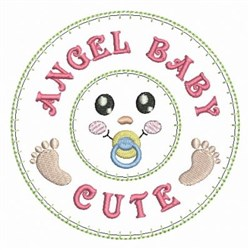 Angel Baby Decoration embroidery design