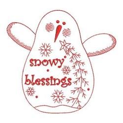 Redwork Folk Art Snowman embroidery design