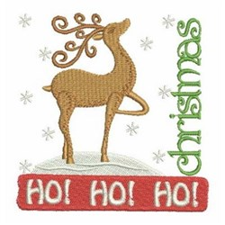 Merry Christmas Reindeer embroidery design
