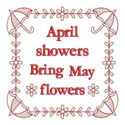Rework April Showers embroidery design
