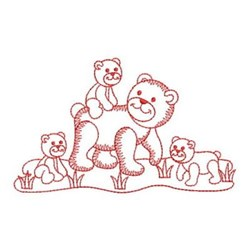 Redwork Bears embroidery design