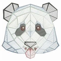 Origami Panda Head embroidery design