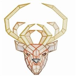 Origami Deer Head embroidery design
