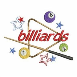 Lets Play Pool embroidery design
