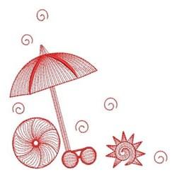 Redwork Summer embroidery design
