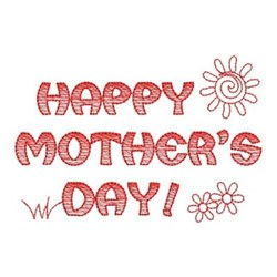 Redwork Mothers Day embroidery design