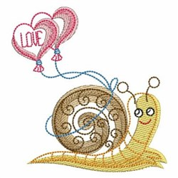 Sketched Snails embroidery design