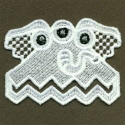 FSL Monster Bookmark Corner embroidery design