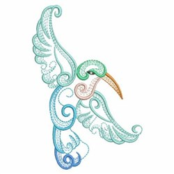 Colorful Hummingbird embroidery design