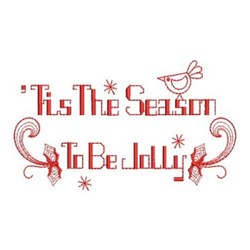 Redwork Jolly Christmas embroidery design