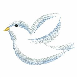 Brush Painting Dove Outline embroidery design
