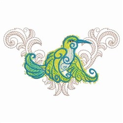 Baroque Hummingbird embroidery design