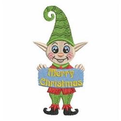 Christmas Greeting Elf embroidery design