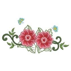 Heirloom Rose Border embroidery design