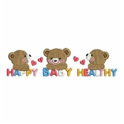 Happy Baby embroidery design
