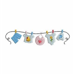 Baby Clothesline embroidery design