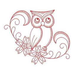 RW Floral Owl embroidery design