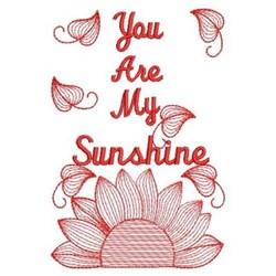 Redwork Sunshine Petals embroidery design