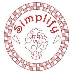Simplify Redwork embroidery design