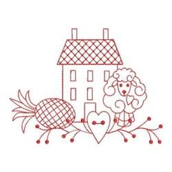 Redwork Country Scene embroidery design