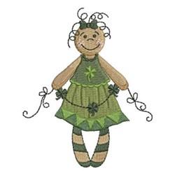 St Patricks Girl embroidery design
