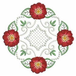 Red Rose Quilt embroidery design